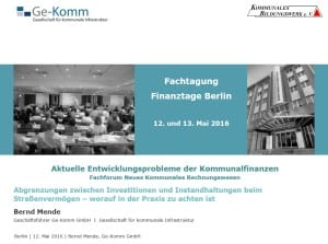 Bernd Mende Ge-Komm GmbH Kommunale Finanztage Berlin 20160512
