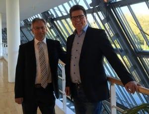 Armin Netter (straßen.nrw) und Bernd Mende (Ge-Komm GmbH)